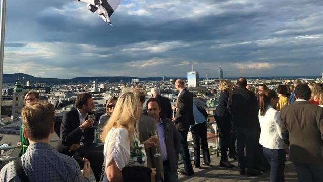 """""""Das wird die coolste Partylocation der Stadt! (Bild: Facebook.com/Hochhaus Herrengasse)"""""""