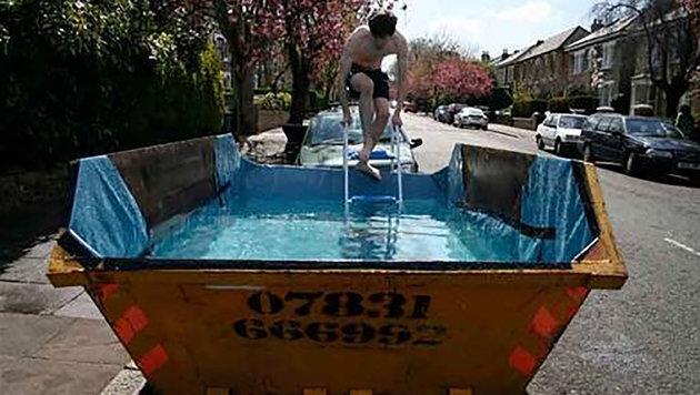 """7 Swimming-Pools zum Selberbasteln (Bild: Facebook.com)"""