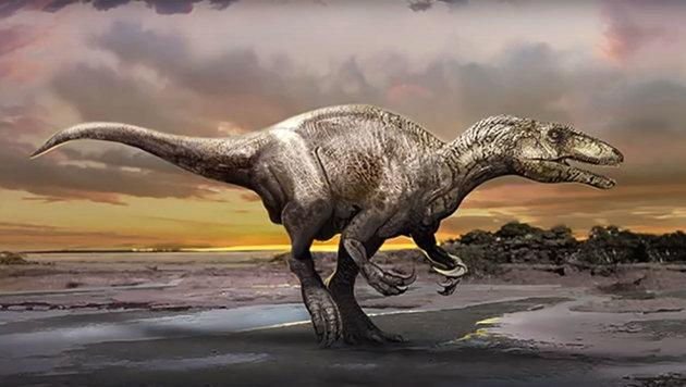 Illustration: So könnte die neu entdeckte Dinosaurier-Art ausgesehen haben. (Bild: PLOS One/Jan Sovak)