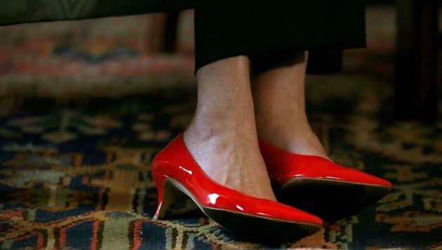 Knallrote Schuhe (Bild: AFP)