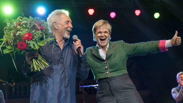Tom Jones mit Party-Gräfin Gloria von Thurn und Taxis (Bild: People Picture/Moosburger)