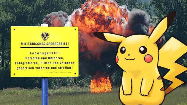 Bundesheer warnt vor Pokémon-Jagd in Sperrgebieten (Bild: Facebook.com/Bundesheer, Nintendo)