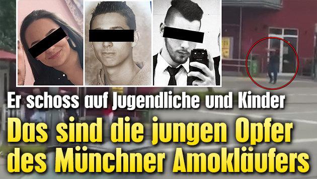 Das sind die jungen Opfer des M�nchner Amokl�ufers (Bild: Facebook.com, YouTube.com, Privat)