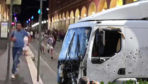 Nizza-Anschlag: Polizistin erhebt schwere Vorwürfe (Bild: AFP/INSTAGRAM/GA.MORROW, AFP/BORIS HORVAT)