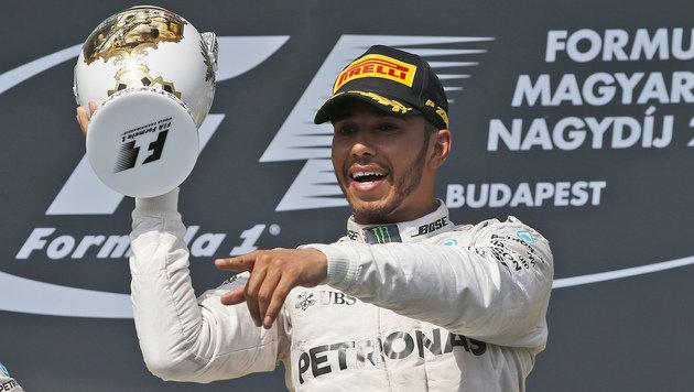Ungarn-GP: Sieg und WM-Führung für Lewis Hamilton (Bild: The Associated Press)