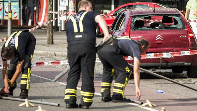 Der Tatort in Reutlingen (Bild: APA/dpa/Christoph Schmidt)
