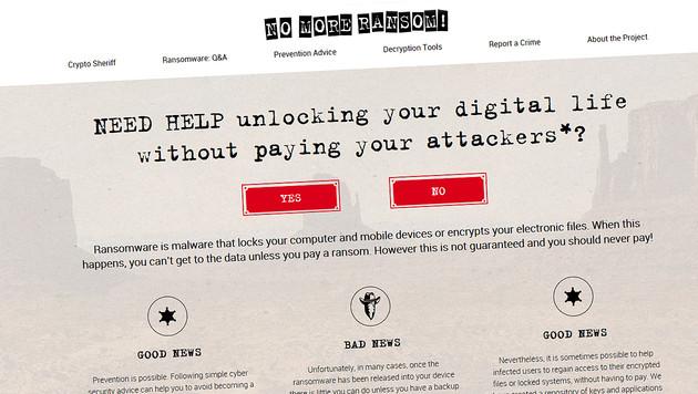 Kärntner Firma wurde Opfer von Erpresser-Software (Bild: nomoreransom.org)