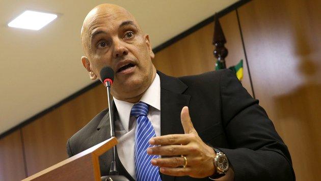 Alexandre de Moraes, brasilianischer Justizminister. (Bild: APA/AFP/AGENCIA BRASIL/JOSE CRUZ)