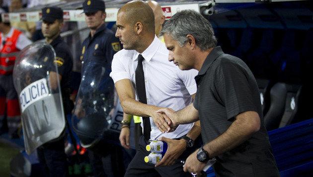 Hass-Duell Mourinho vs. Guardiola f�llt ins Wasser (Bild: AP)