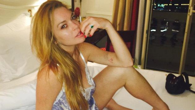 Lindsay Lohan auf einem Foto, das sie auf Instagram gepostet hat. (Bild: Viennareport)