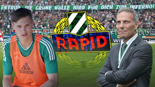 """Rapid-Boss an Entrup: """"Stehen alle hinter dir!"""" (Bild: GEPA)"""