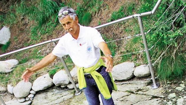 Führung durch den Gletschergarten von Cavaglia: die Töpfe der Riesen (Bild: Karin Podolak, Kronen Zeitung)