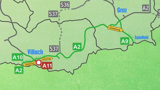 Wer nach Slowenien oder Kroatien will, kann via A2 über Italien oder über die A9 ausweichen. (Bild: wikipedia.com/AleXXw. thinkstockphotos.de)