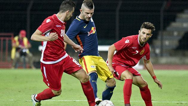 Salzburg greift gegen Tirana nach Herbst in Europa (Bild: APA/HERBERT NEUBAUER)