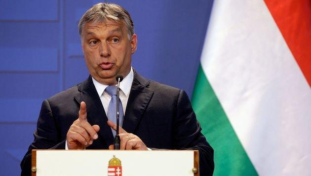 """Migration ist für Ministerpräsident Viktor Orban """"keine Lösung"""". (Bild: APA/AFP/PETER KOHALMI)"""