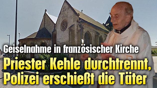 Priester Kehle durchgeschnitten, T�ter erschossen