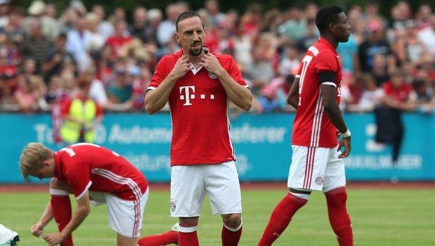 Ribery: Seitenhieb Richtung Guardiola (Bild: APA/AFP/dpa/DANIEL KARMANN)