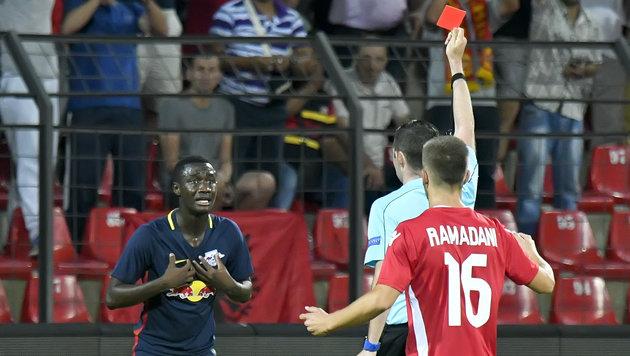 Soriano schießt RB Salzburg per Elfer zu 1:0-Sieg! (Bild: APA/HERBERT NEUBAUER)