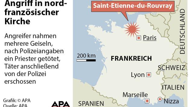Zweiter IS-Schlächter von Rouen identifiziert (Bild: APA)