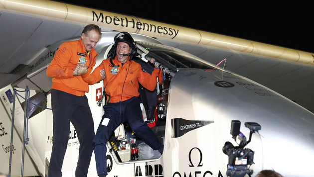"""Solar Impulse 2"" hat Weltumrundung geschafft (Bild: Associated Press)"
