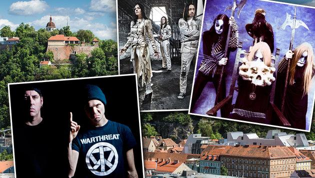 """2 Tickets f�r """"Metal On The Hill"""" gewinnen (Bild: Per Ole Hagen, Tim Kl�ckler, Alessandro Oligiati, Graz Tourismus)"""