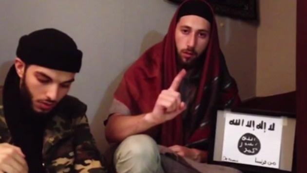 Die beiden IS-Schlächter von Rouen (Bild: Screenshot/Amaq)
