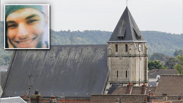 Rouen: Das sollen die beiden IS-Schlächter sein (Bild: Twitter.com/CodeAud, APA/AFP/MATTHIEU ALEXANDRE)