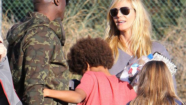 Heidi Klum mit Ex-Mann Seal und den Kindern Leni und Johan (Bild: Viennareport)