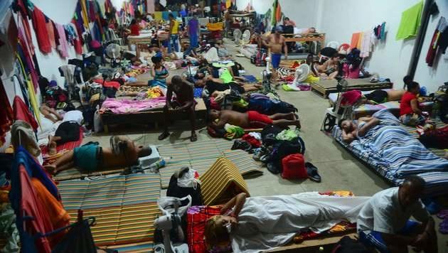 In der kolumbianischen Ortschaft Turbo sind Tausende Flüchtlinge gestrandet. (Bild: APA/AFP/RAUL ARBOLEDA)