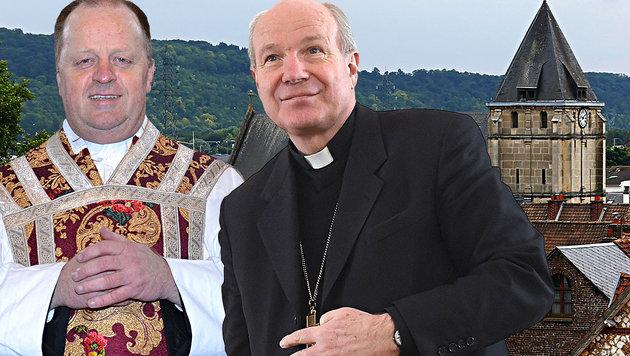 """""""Kirche im Religionskrieg kein heiliger Ort mehr"""" (Bild: APA/HELMUT FOHRINGER, Ewald Schnabl, AP)"""