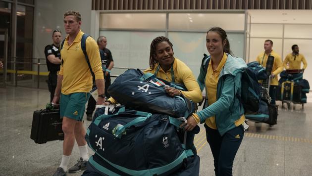 Mängel behoben - Australier bezogen Olympia-Dorf (Bild: AP)