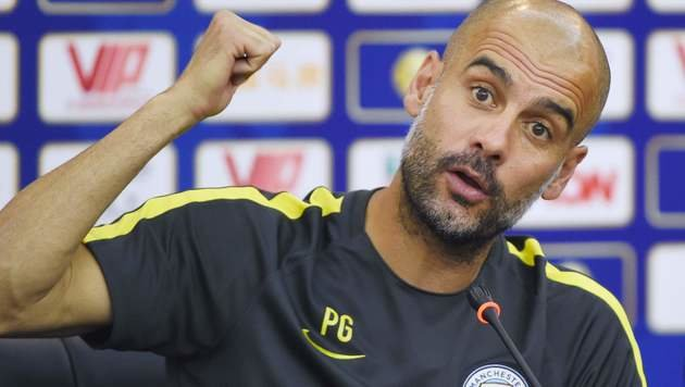 ManCity-Coach Guardiola erteilt WLAN-Verbot (Bild: APA/AFP/WANG ZHAO)