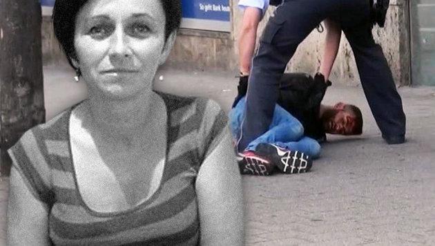 Mordopfer Jolanta K. und der angefahrene Amokläufer (Bild: AP, facebook.com)
