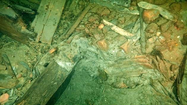 """Überreste der """"Kronan"""" am Grund der Baltischen See vor Schweden (Bild: AFP/Kronanprojektet/Kalmar Läns Museum)"""
