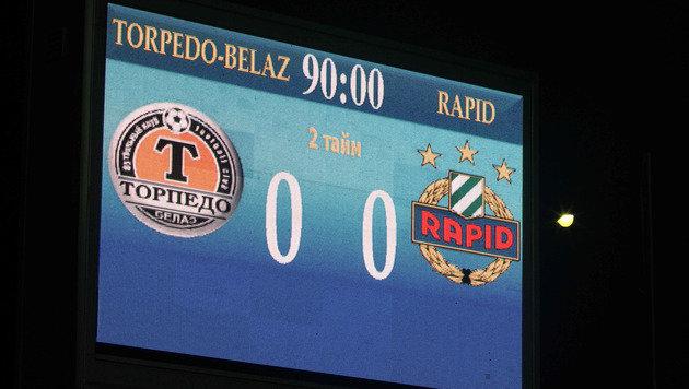 0:0! Rapid scheitert an weißrussischer Abwehrwand (Bild: GEPA)