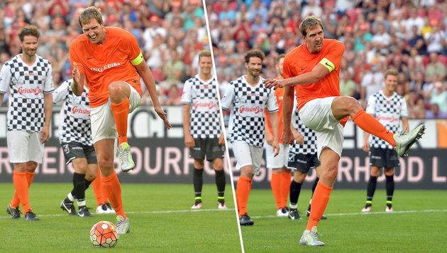"""Dirk Nowitzki sorgt mit """"Zaza-Elfer"""" für Lacher (Bild: EPA)"""