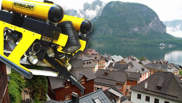 """Mit diesem Roboter soll der Grund des Hallstätter Sees abgesucht werden. (Bild: """"Krone"""", Markus Schütz)"""