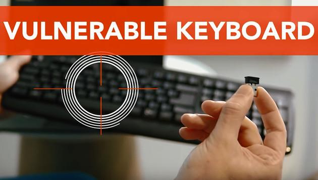 Kabellos-Tastaturen senden Daten unverschlüsselt (Bild: YouTube)