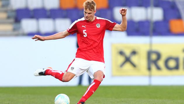 Hier kickt Philipp Lienhart für die österreichische U21. (Bild: GEPA pictures/ Ch. Kelemen)