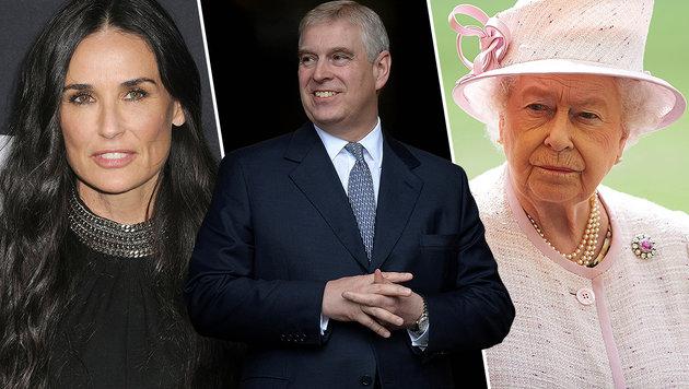 Keine Freude hat Queen Elizabeth an der Liaison ihres Sohnes Andrew mit Demi Moore. (Bild: face to face/AFP)