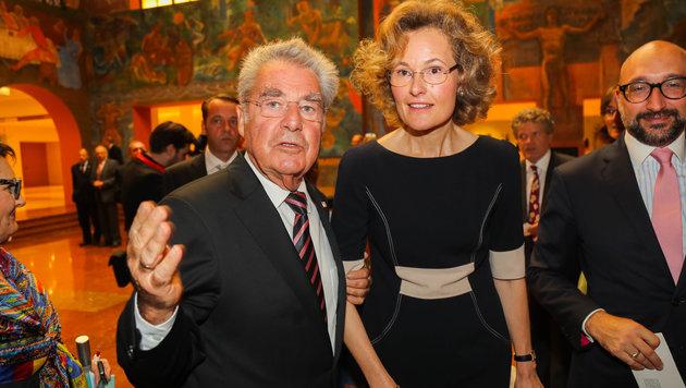 Der ehemalige Bundespräsident Heinz Fischer und die Erbprinzessin Sophie von und zu Liechtenstein (Bild: APA/NEUMAYR/MMV)