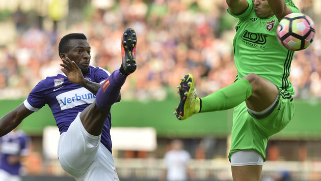 Austria blamiert sich daheim gegen Spartak Trnava! (Bild: APA/HERBERT PFARRHOFER)