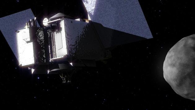 Illustration: OSIRIS-REx im Anflug auf Bennu (Bild: NASA)
