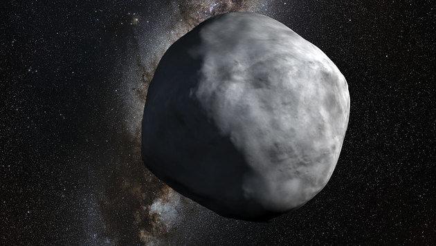 Künstlerische Darstellung des Asteroiden (101955) Bennu (Bild: NASA/Goddard/University of Arizona)