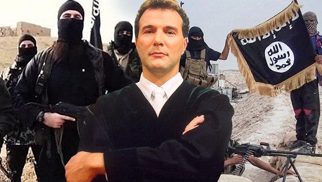 """""""Die Islamisten wollen unsere Religion vernichten"""" (Bild: Sat1, raqqa-sl.com, twitter.com)"""