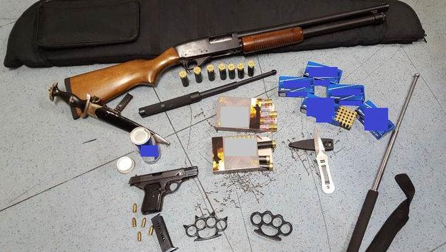 Drogen- und Waffendepot in Wien entdeckt (Bild: APA/LPD WIEN)