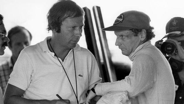 """Heinz Prüller, Formel-1-Reporter-Legende der """"Krone"""", begleitete Lauda durch seine gesamte Karriere. (Bild: Kronen Zeitung)"""