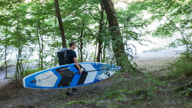 M�nchner paddelt f�r Natur 500 Kilometer nach Wien (Bild: sup-muenchen-wien.de/)