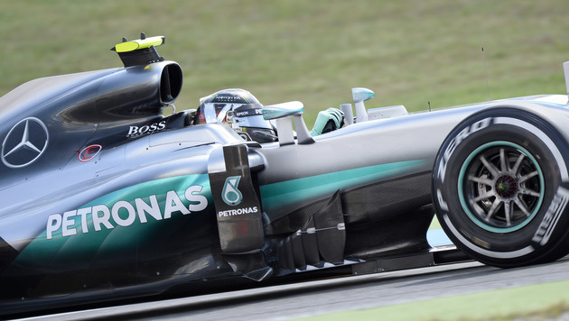 Hockenheimring: Rosberg auch im 3. Training voran (Bild: APA/AFP/THOMAS KIENZLE)