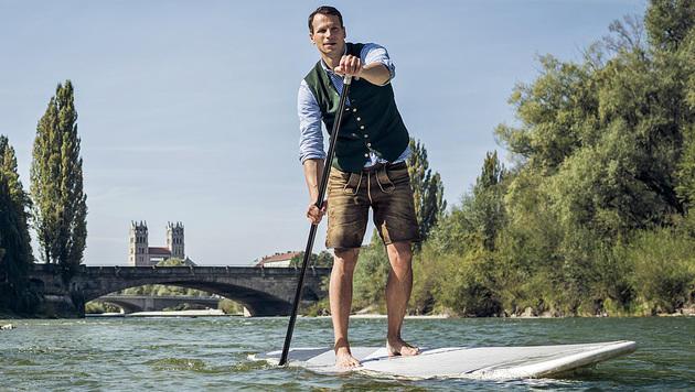 Pascal R�sler paddelt von M�nchen nach Wien. (Bild: Christian Brecheis)